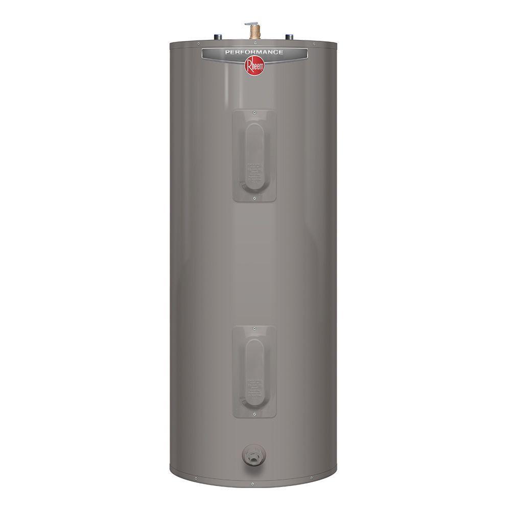 Rheem Performance 30 Gal Tall 6 Year 3800 3800 Watt Elements Electric Tank Water Heater Xe30t06st38u1 Water Heater Installation Home Depot Locker Storage