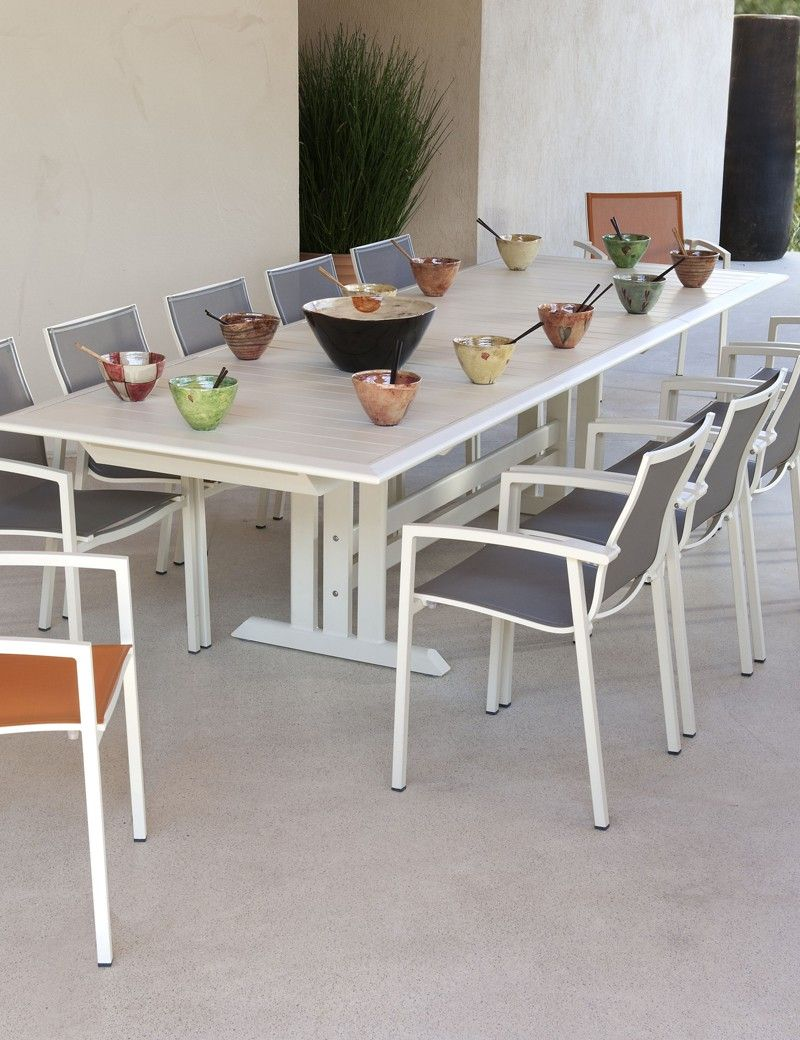 Vente Privee Table De Jardin Table Extensible Blanc 100 Alu Les Jardins Vente Privée