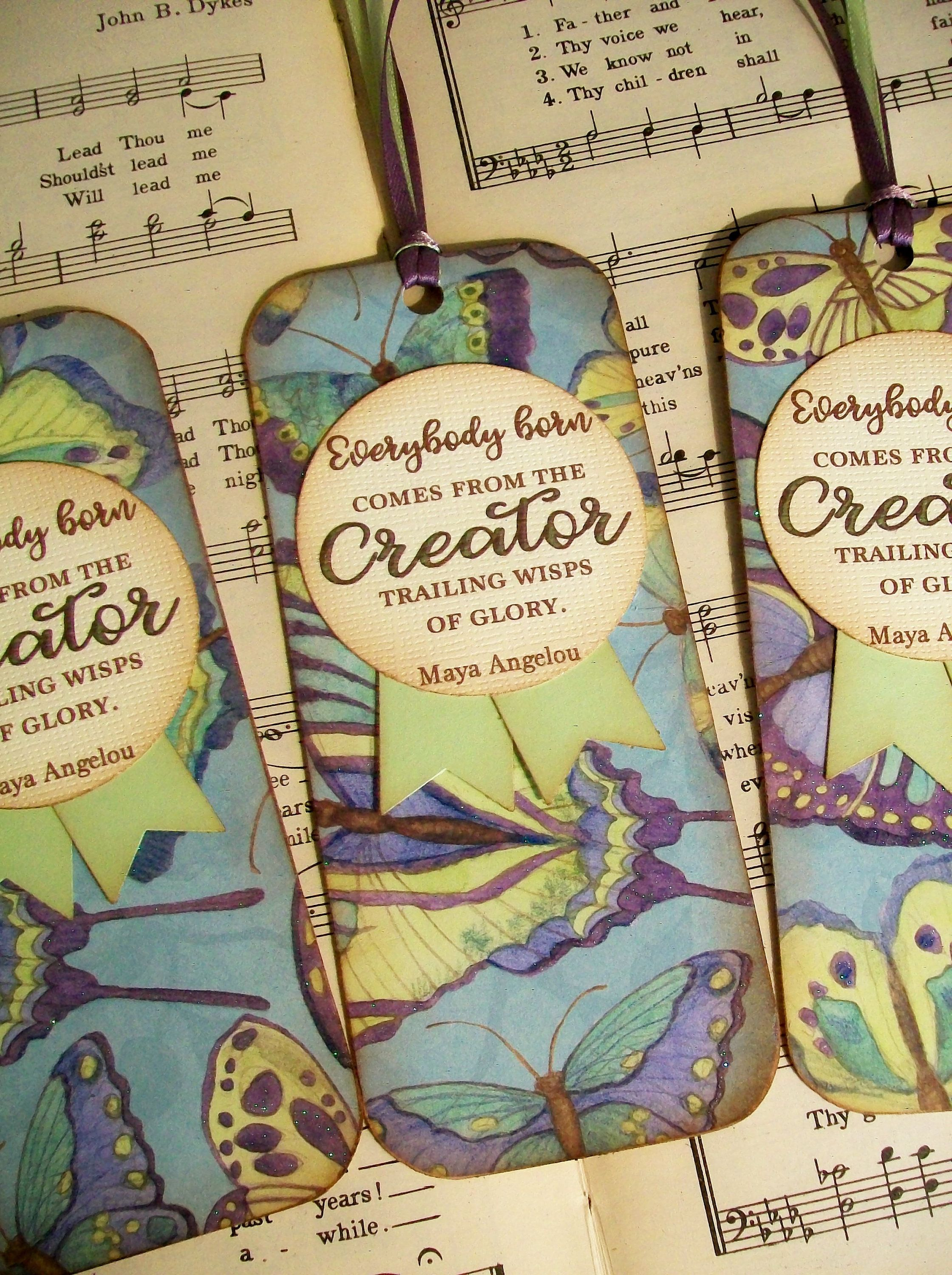 maya angelou bookmarks set of 3 book club favors everybody born