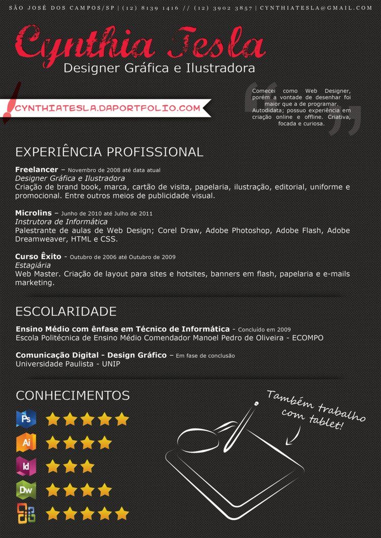 Cynthia Tesla Creative Resume 2012 by ~srtcynthia on deviantART ...