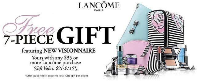 Lancome 7pc gift @ Belk. http://cliniquebonus.org/lancome-gift ...