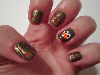 How to paint a turkey on fingernail nail art designs ideas 2013 go ahead check out the 15 festive thanksgiving nail designs below and put a turkey on your nails these designs are going to make you even more excited for prinsesfo Gallery
