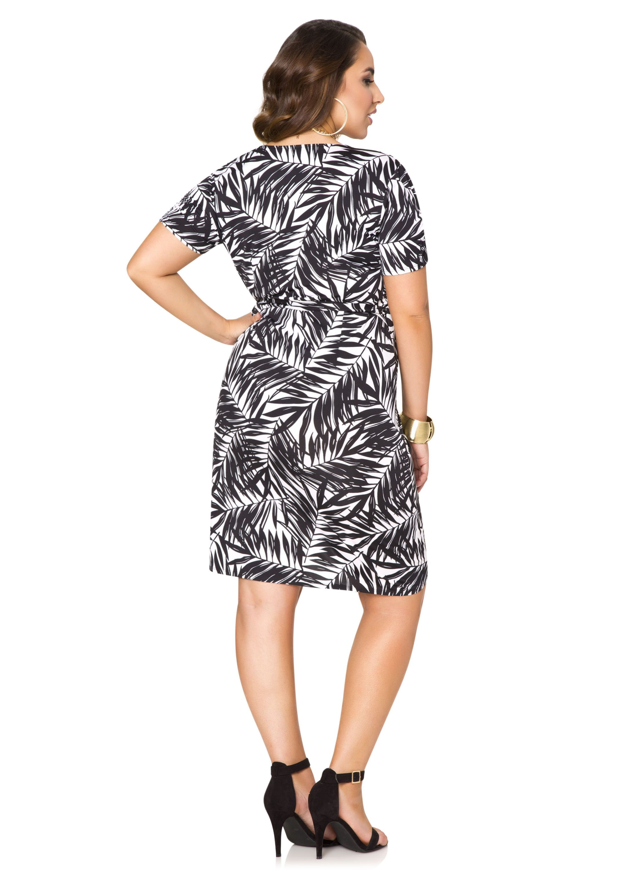 5b09806fd35 Tropical Print Wrap Dress - Ashley Stewart. Tropical Print Wrap Dress - Ashley  Stewart Fashionable Plus Size Clothing ...