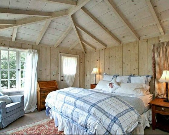 A cute cottage style bedroom