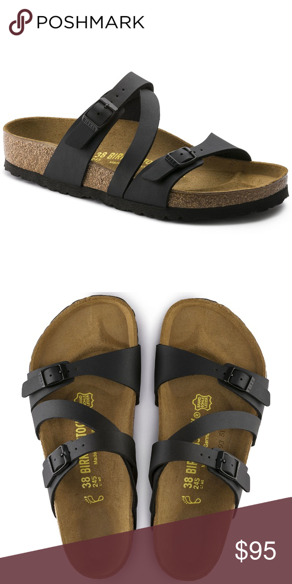 08771747dd NEW Birkenstock Salina Black Womens Sandal The Salina sandal is unique with  its unconventional positioning of the foot straps.
