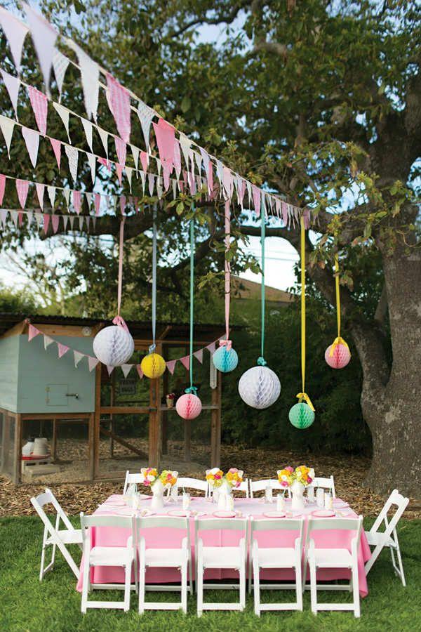 10 kids backyard party ideas garden birthday parties for Backyard birthday decoration ideas