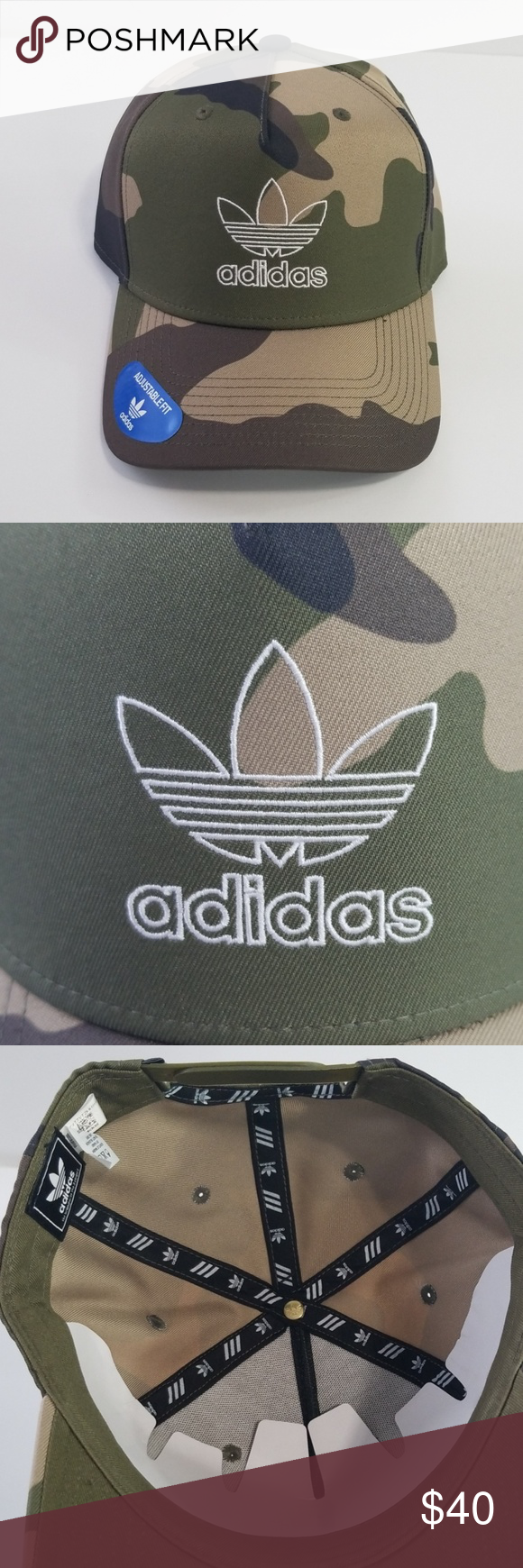 153dfa1005771 Adidas Originals Camo Snapback Hat Adidas Originals Adjustable Fit Snapback  New With Tags A94-A101 adidas Accessories Hats