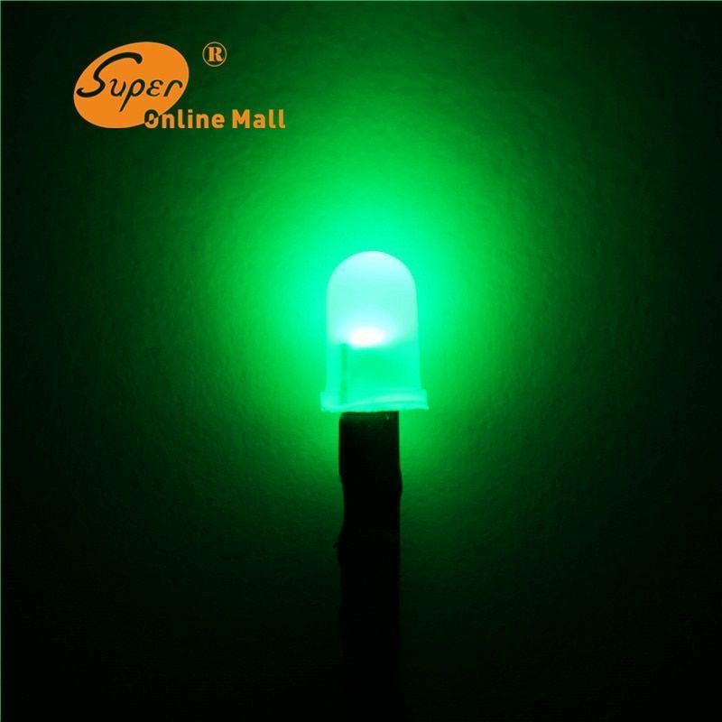 50 Round Diffused Light Emitting Diodes 50pcs 3mm Red /& Green FOG LED 3-pin