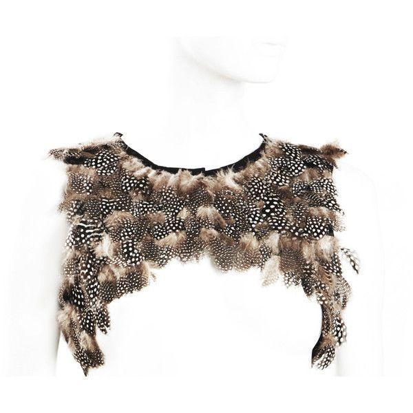 Sally Phillips Evita Feather Mini Gilet ($550) ❤ liked on Polyvore