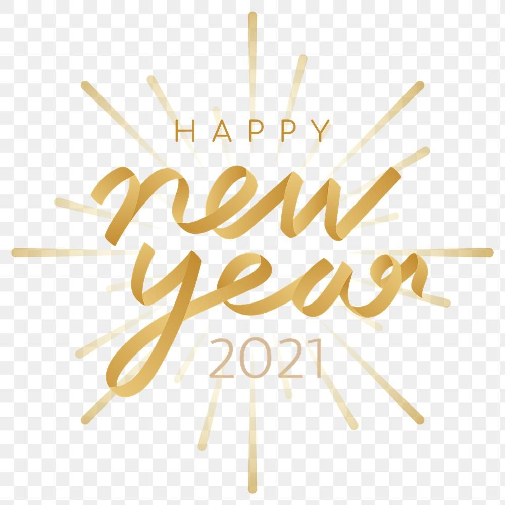 Gold Png Happy New Year 2021 Sticker Premium Image By Rawpixel Com Adj Happy New Year Png Happy New Year 2021 Png Happy New Year Background