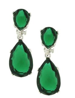 Green Emerald Teardrop Earrings