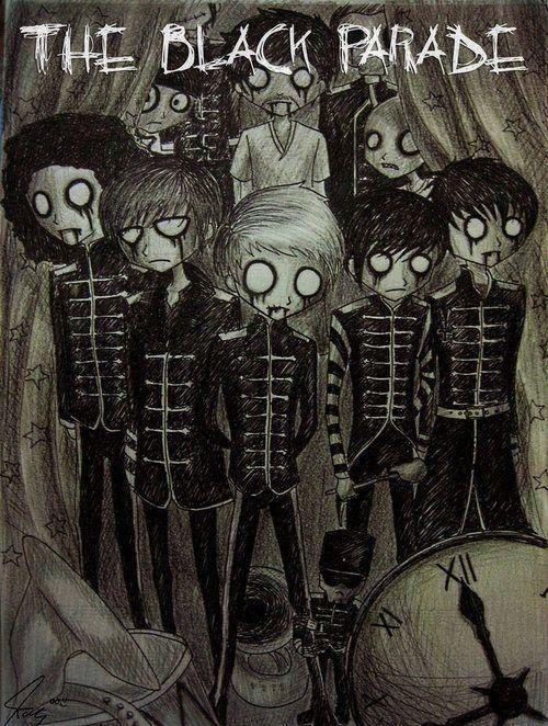 Welcome To The Black Parade My Chemical Romance Emo Art Tim Burton Art