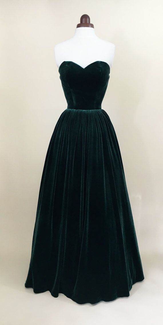 Green prom dress, ball gown, evening gown, party dress, long dress ...
