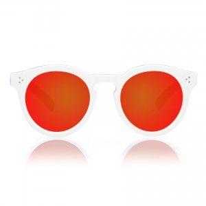 Illesteva Leonard II White/Havana with Orange Mirrored Lenses | illesteva