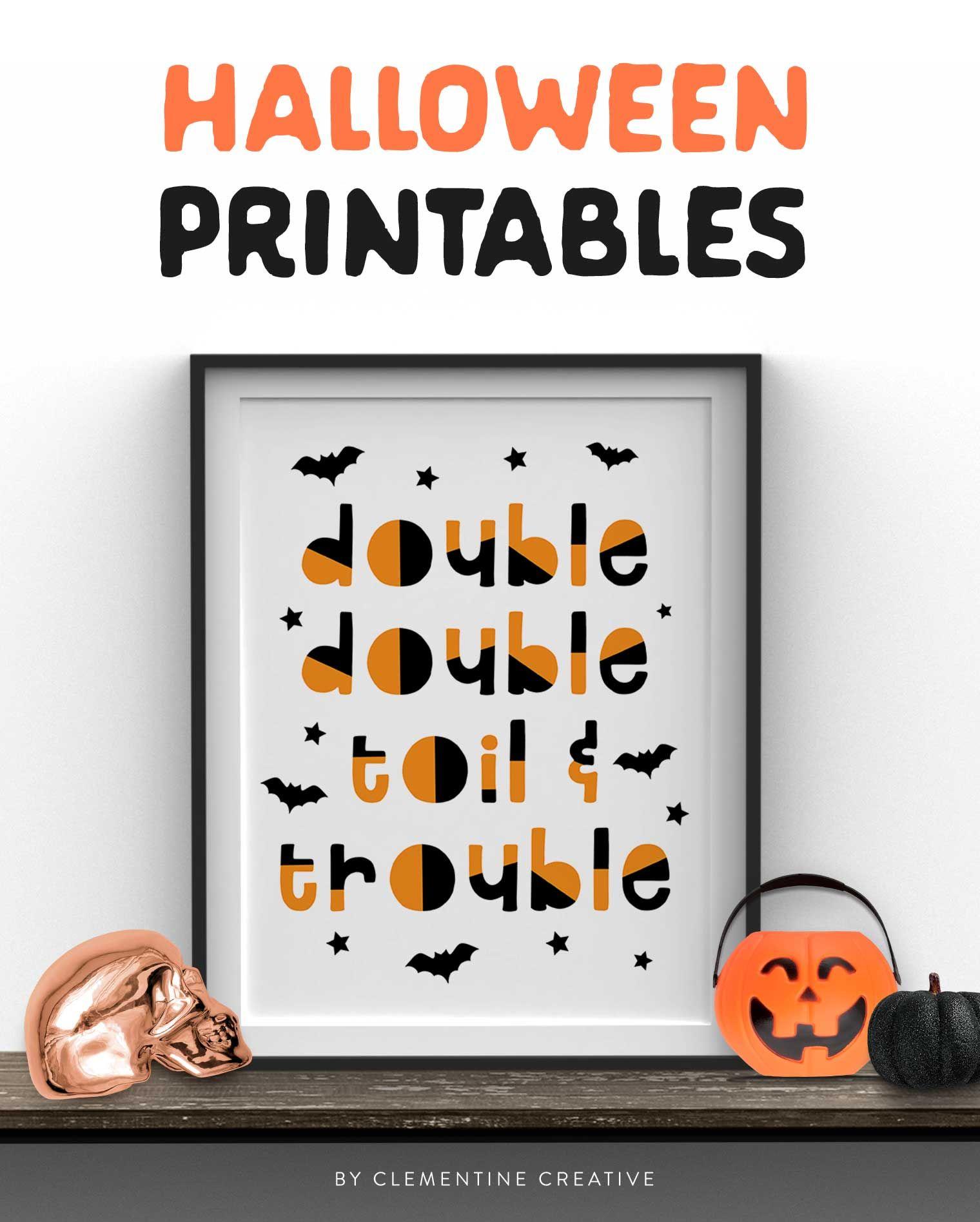 Free Printable Halloween Wall Art Modern Prints For Your