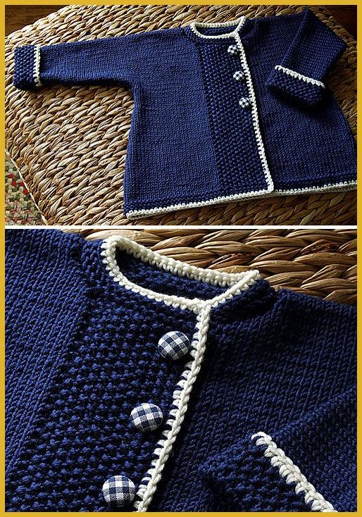 Photo of Sweet Navy Sweater – Free Pattern