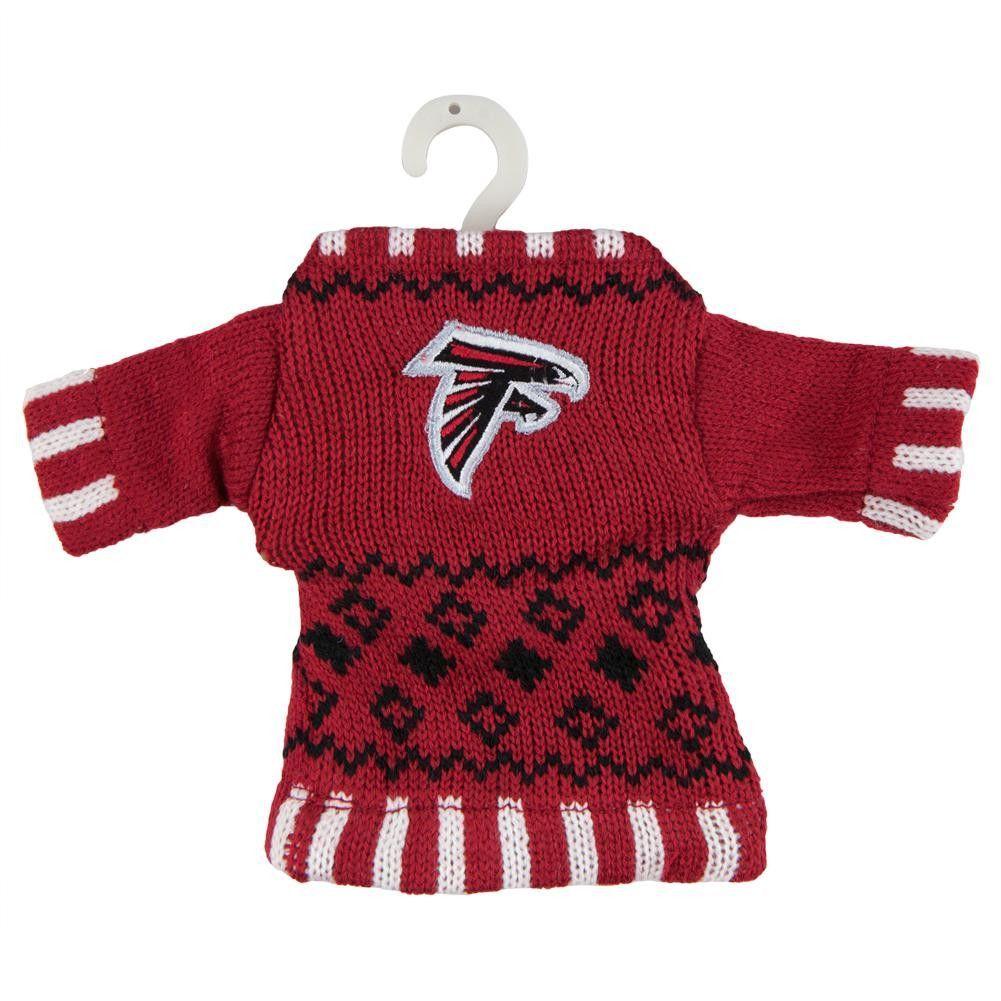 Atlanta Falcons Knit Sweater Ornament Atlanta Falcons Sweaters Atlanta Falcons Memes