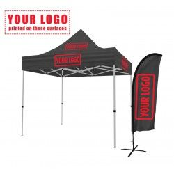 Tent frame with Canopy and One Feather Flag  sc 1 st  Pinterest & Tent frame with Canopy and One Feather Flag | Tent Display ...