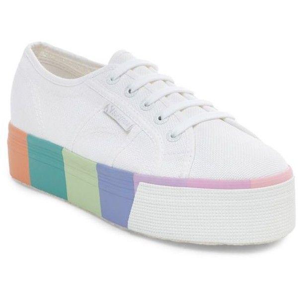 Superga Rainbow Platform Sneaker ($85