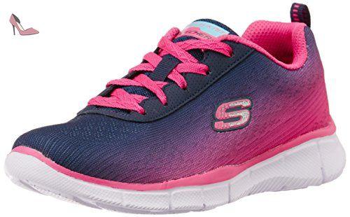Skechers Equalizer, Sneakers Basses fille, Bleu (MarineRose