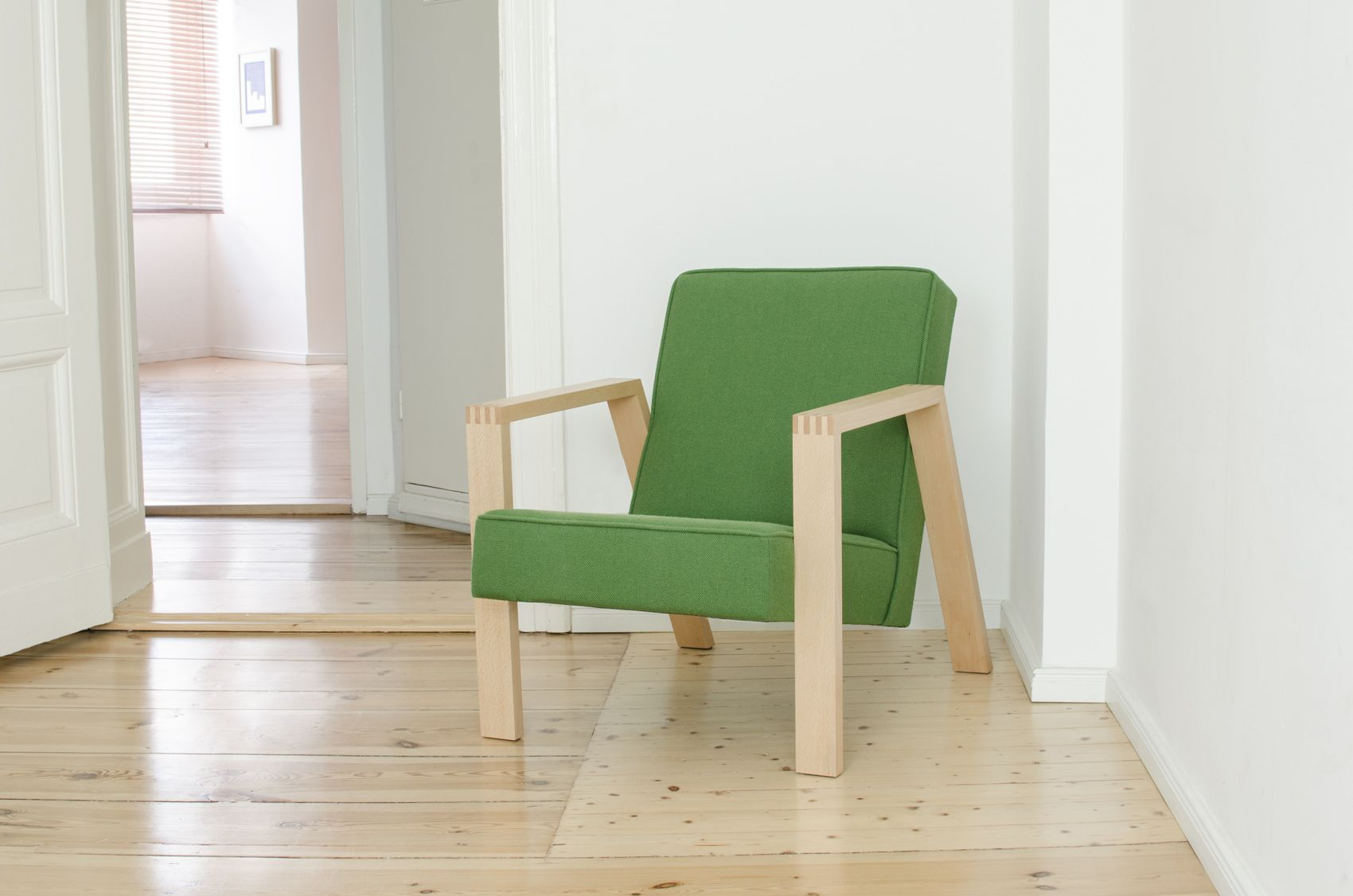 Pontier n armchair with kvadrat hallingdal upholstery