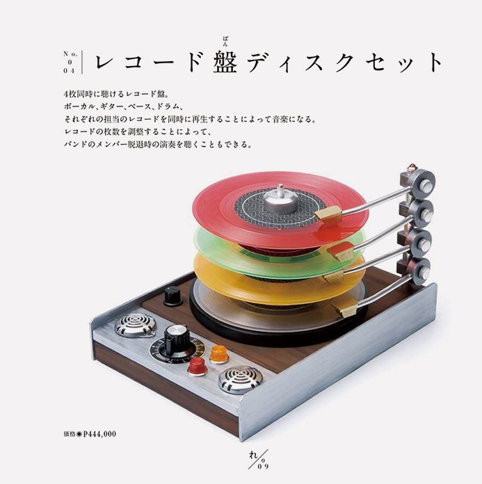 Pantogram – a record player that plays 4 records – vocals, guitar, bass and…