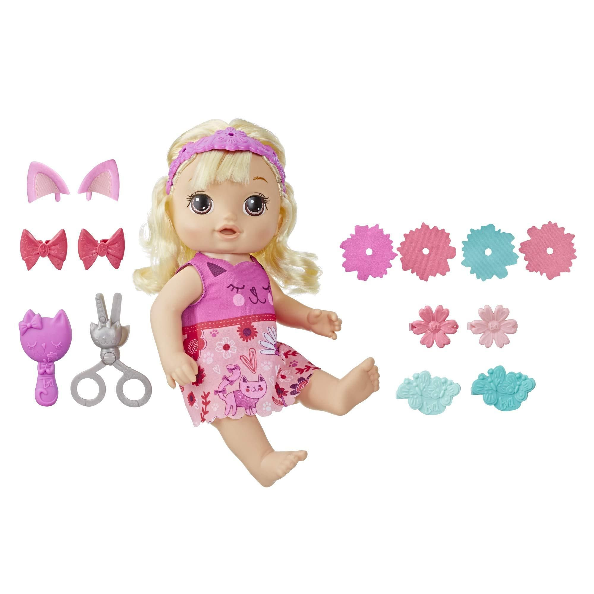 Baby Alive Snip An Style Baby Blonde Hair Talking Doll With Bangs That Grow Then Get Shorter Toy Doll For Kids Ages 3 Years Old And Up In 2020 Baby Alive Baby Blonde Hair Baby Alive Dolls