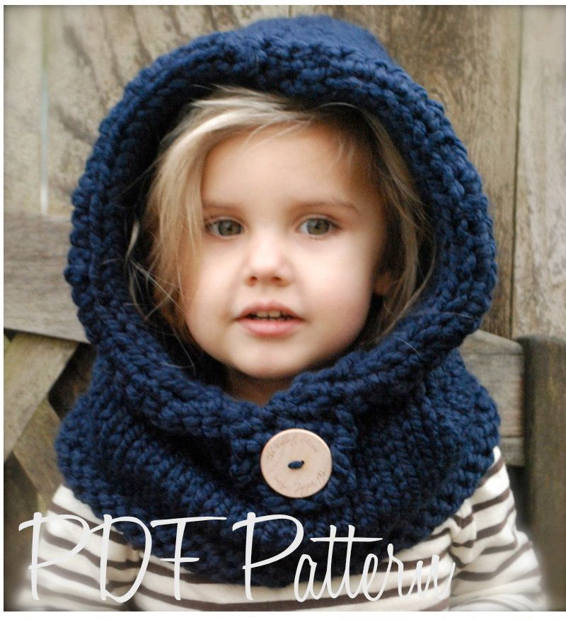 Hooded Cowl Knitting Pattern Free : Knitting pattern the canyon cowl toddler child adult