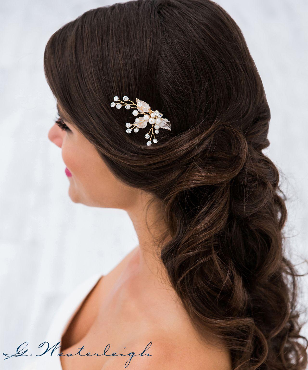 Fein und eleganter Brautschmuck in der Farbe rosegold aus