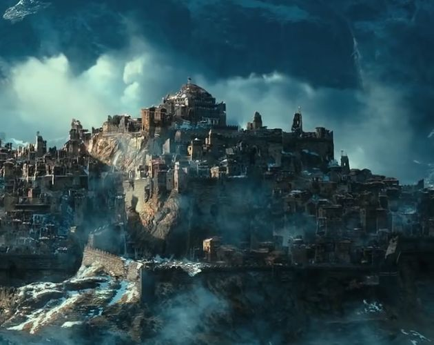 The Ruined City Of Dale In The Shadow Of The Lonely Mountain The