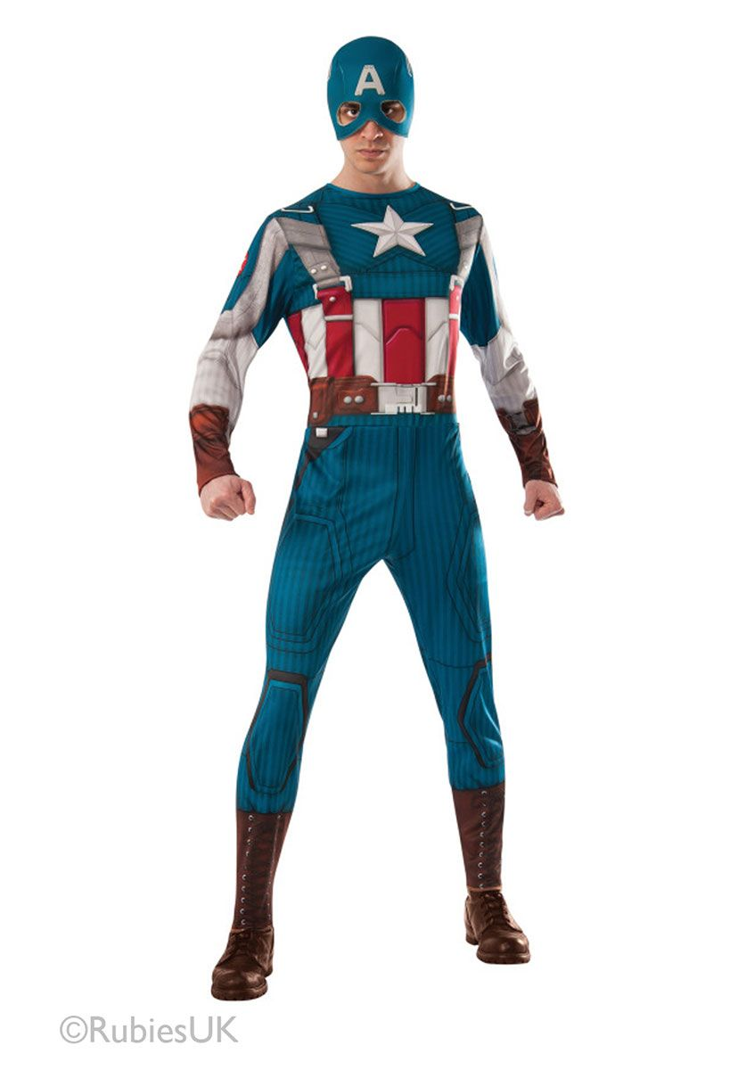 Winter Soldier Top Captain America Civil War Fancy Dress Halloween Adult Costume