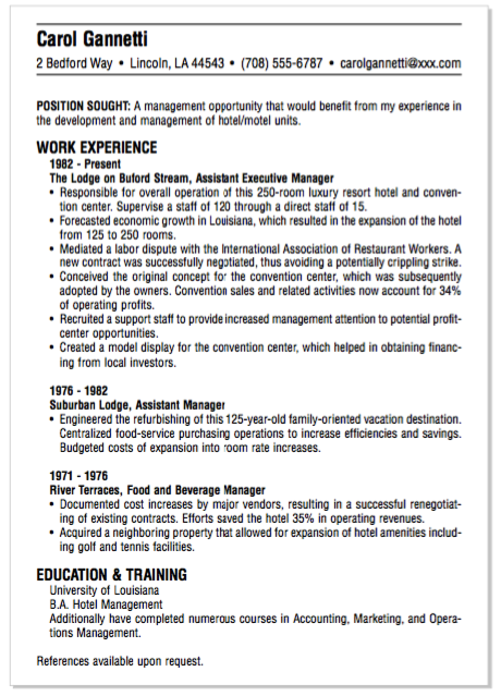 EXample Of Beverage Manager Resume - http://exampleresumecv.org ...