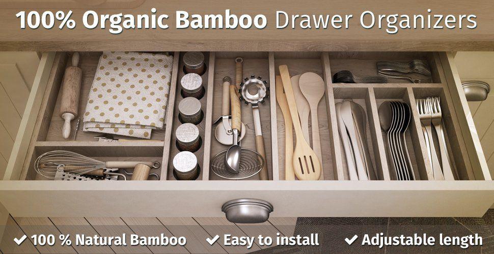 Amazon Com Kitchen Drawer Organizers Spring Adjustable