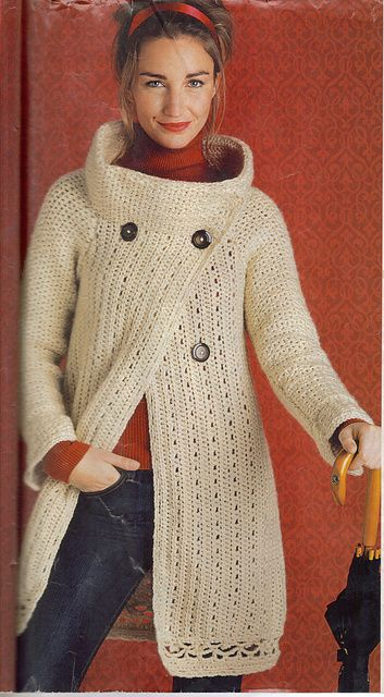 Ravelry Stylish Sweater Coat Pattern By Mari Lynn Patrick Knitted