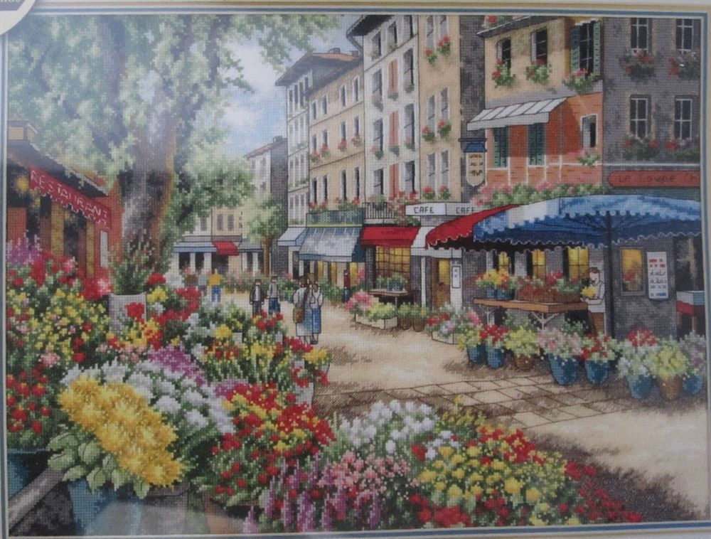Paris Market Counted Cross Stitch Kit 35256 Dimensions Gold ...