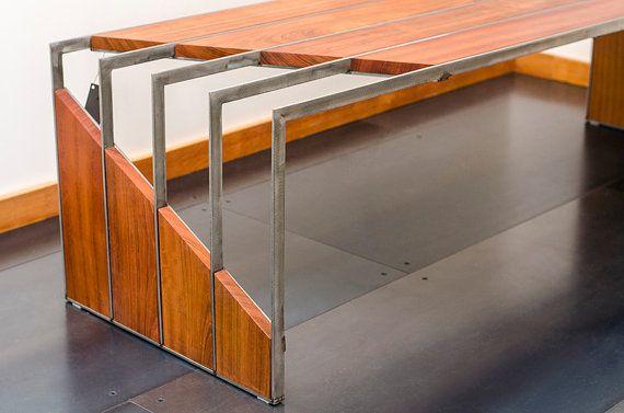 Banco de cerezo brasileño de acero inoxidable de metales Visual ...