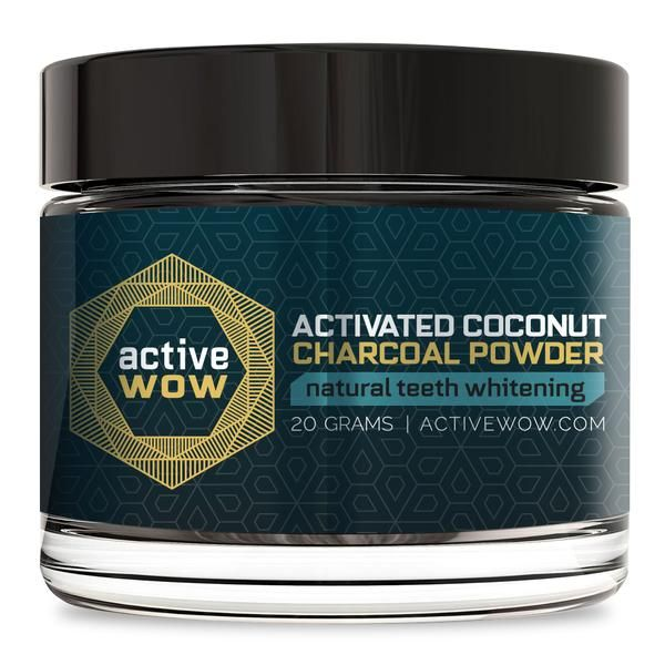 24K White Activated Coconut Teeth Whitening Charcoal Powder #bestteethwhitening
