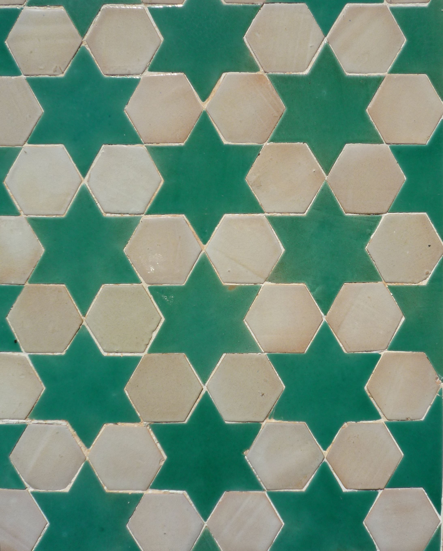 Spanish Zellij Mosaic Ceramic Tile From