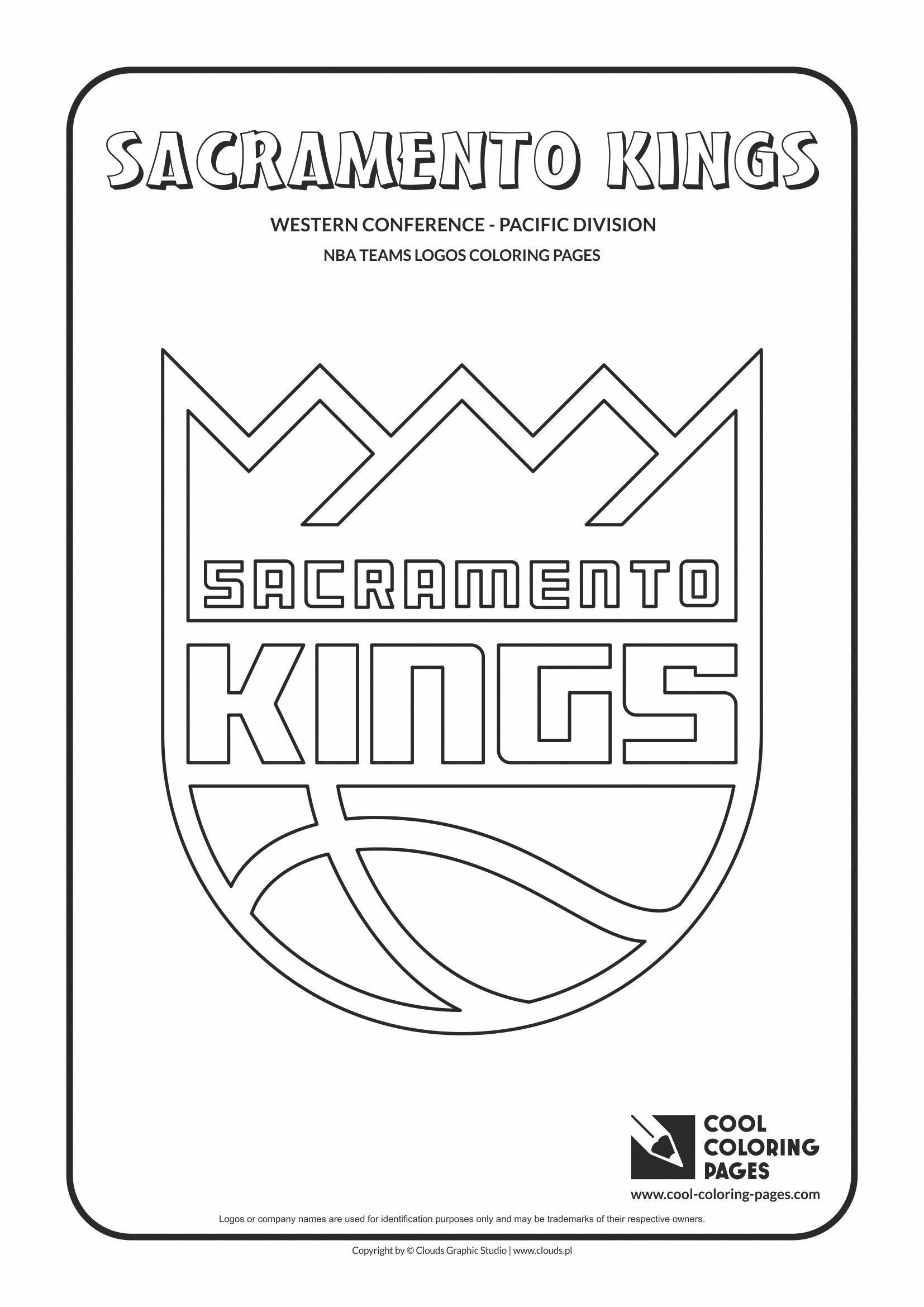 Cool Coloring Pages Nba Basketball Clubs Logos Western Conference Pacific Basketballclub Nba Basketball Teams Cool Coloring Pages Nba Basketball