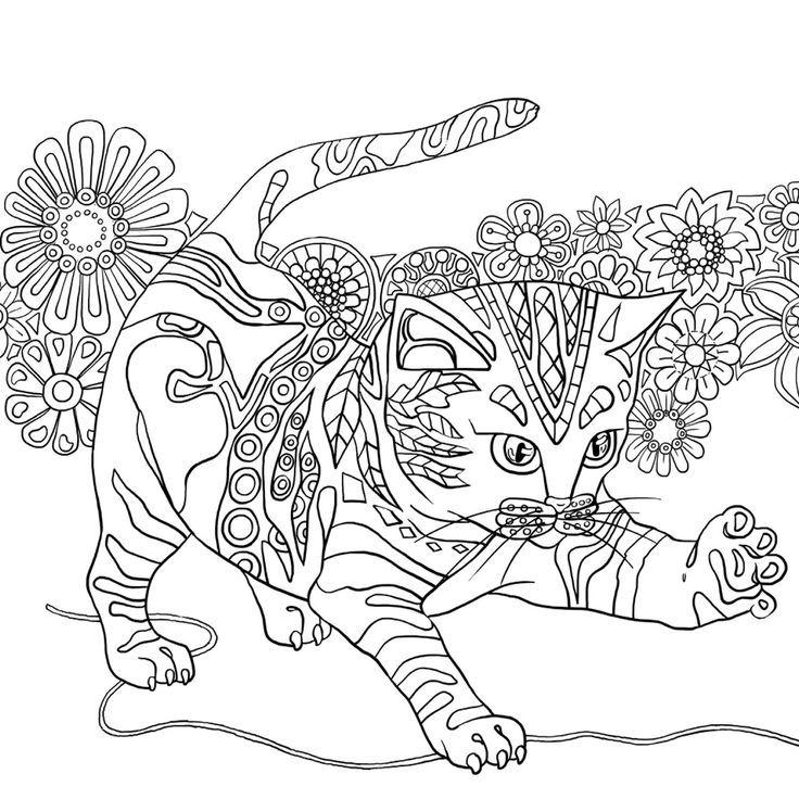 Resultat D Imatges De Arteterapia Para Colorir With Images Cat