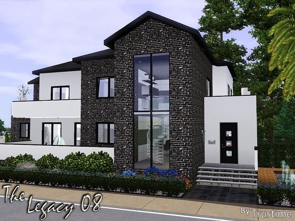 The Legacy 08 House By Trustime Sims 3 Downloads Cc Caboodle Sims House Sims 4 House Design Sims House Plans
