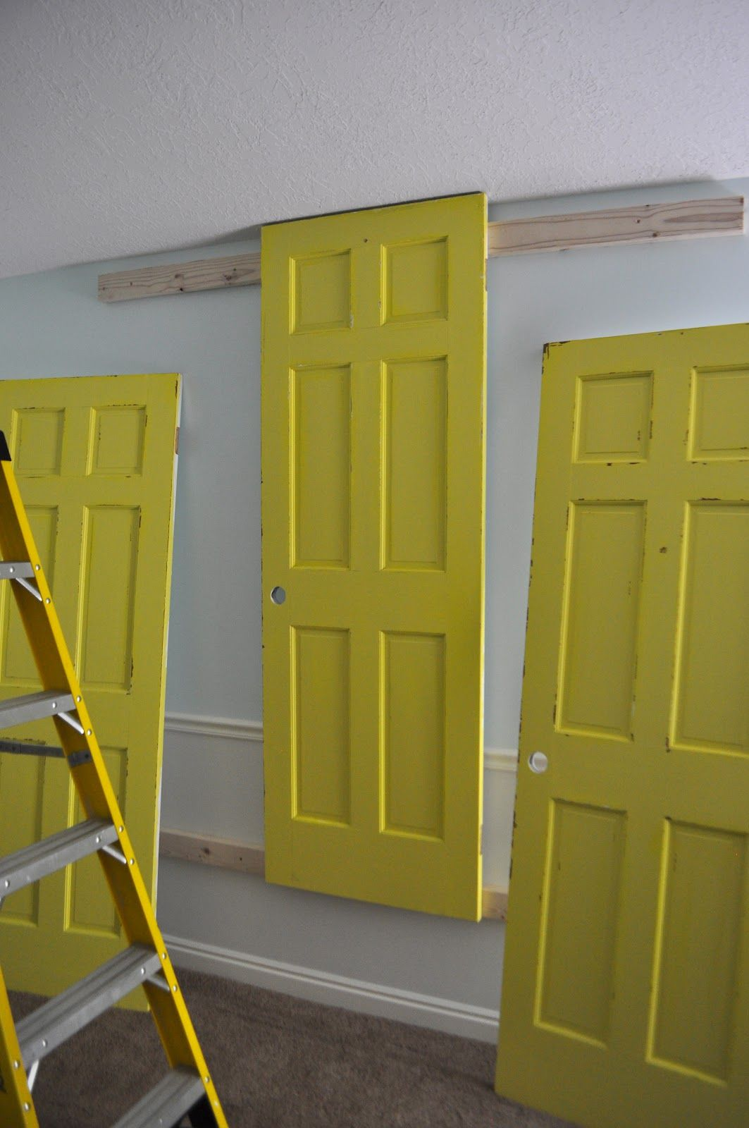 How to Make a Headboard from Doors--@Trevor W.!!!!-I want to use old ...