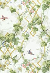 Wallcovering / Wallpaper | Leafy Arbor in Sky | Schumacher