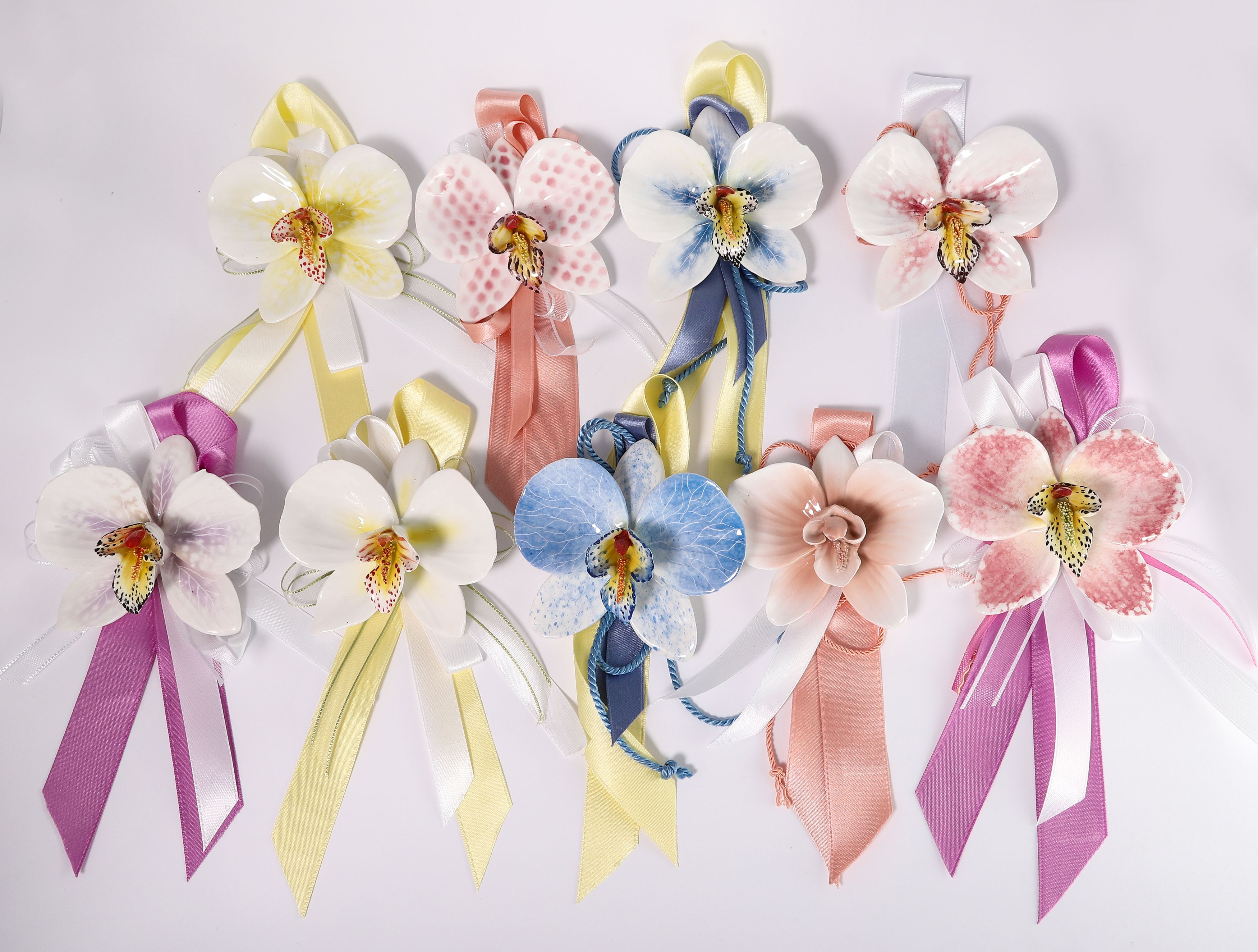 Segnaposto Matrimonio Orchidea.Segnaposto Bomboniere Matrimonio E Anniversario Orchidee Dipinte
