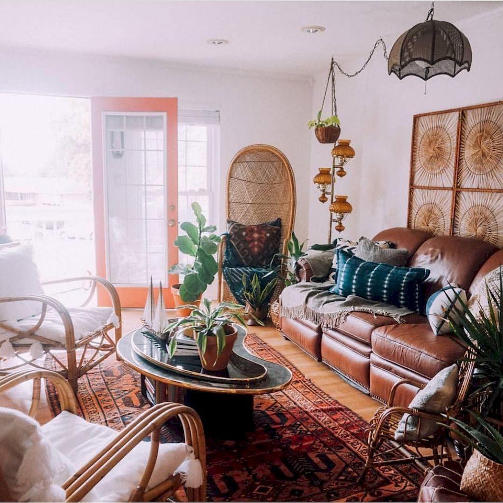 75 modern bohemian living room decor ideas  modern