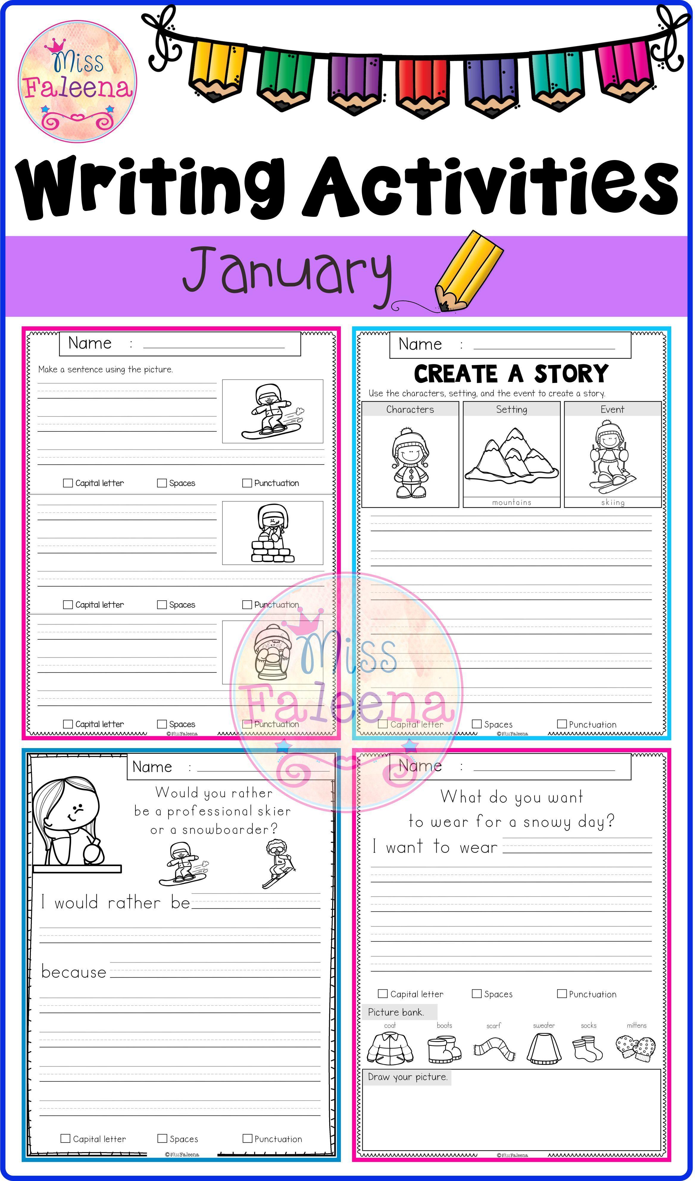January Writing Activities