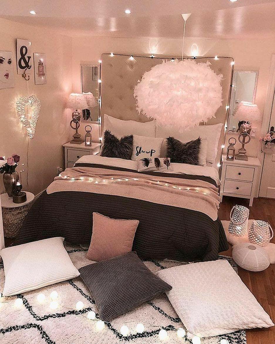 Teenage Rose Gold Aesthetic Bedroom Decor - BESTHOMISH