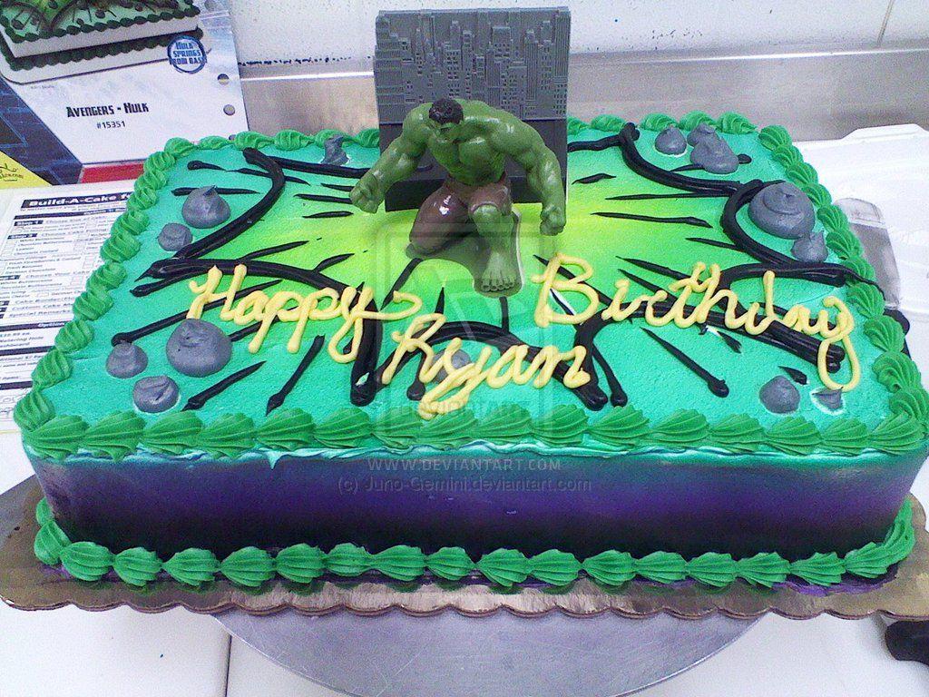 Hulk Cake by JunoGeminideviantartcom on deviantART Cakes
