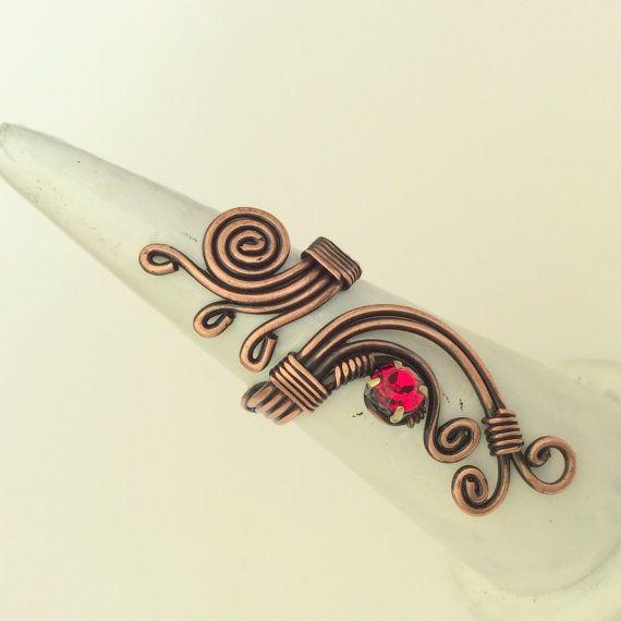 Draht gewickelt Ring Kupferdraht mit roten von BeyhanAkman auf Etsy ...