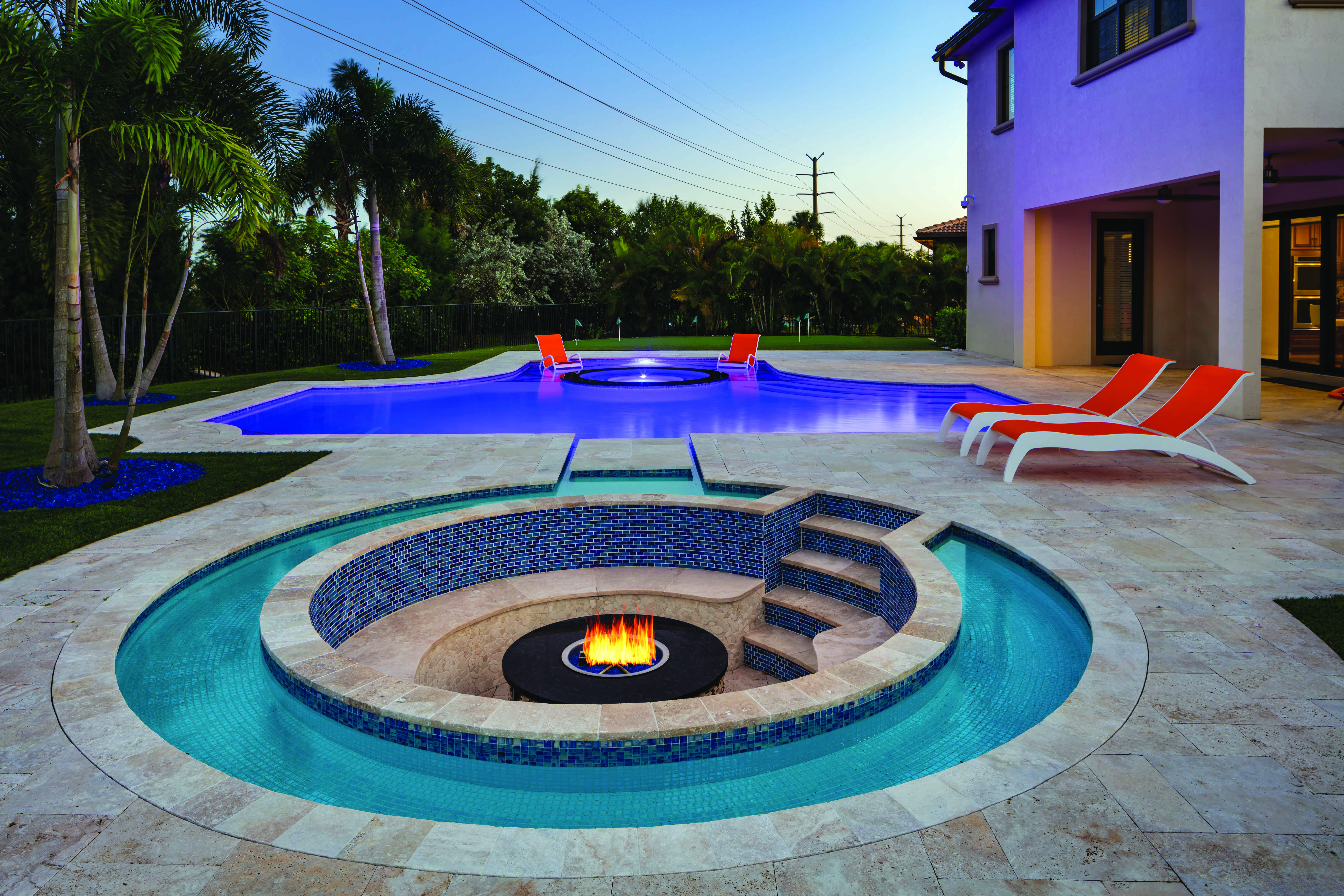 Fountain Blue Pools: Gold In Pool U0026 Spa Combination 501 700 Sq Ft  Pool And Spa Designs